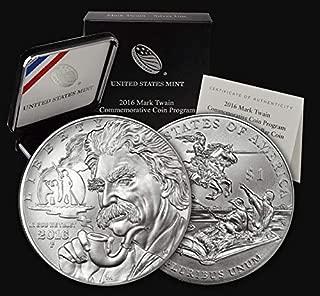 2016 P Commemorative Mark Twain Silver Dollar Proof US Mint
