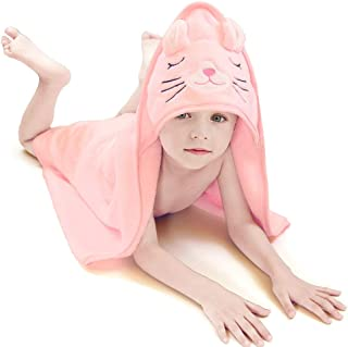 Generic Brands Baby Hooded Towel - Coral Velvet Bath Towels Bathrobe Soft Cozy & Absorbent Thick for Infants Boys Girls - ...