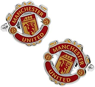 - Manchester United Cufflinks - Men's French Cuff-Link for Wedding, Formal, Birthday, Graduation, Christmas, Father Day, Groom, Best Man, business attire shirt + Free Deluxe Cufflinks Gift Box