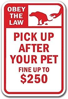 pick up after pet sign