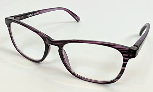 new arrival Magnivision popular Foster Grant lowest Purple-Patterned Elana Women's Reading Glasses +1.50 online
