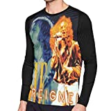 Foreigner Music Men's Classic Round Neck Print Fashion Long Sleeve T-Shirts Black