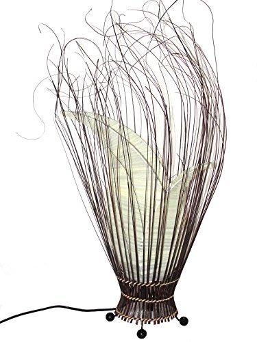 Tischlampe Florenza Tischleuchte creme, 70cm Graslampe Dekolampe