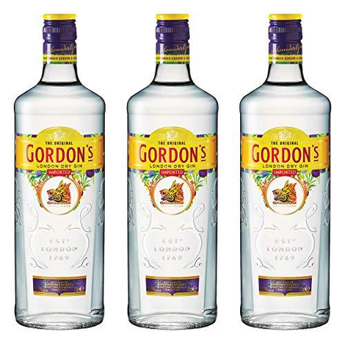 Gordons London Dry Gin 721484 - Alcohol (3 Unidades, 37,5%, 700 ml)