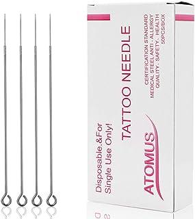ATOMUS 50pcs Tattoo Needles Set 3RL Disposable Tattoo Needles Stainless Steel Taeto Needles for Tattoo Machine