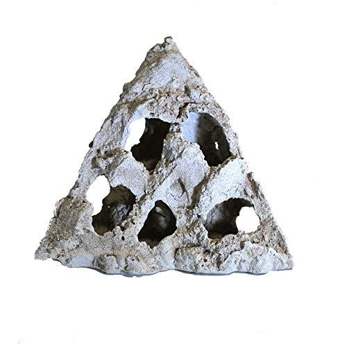 Magyar Aquarium Naturlochgestein, Eck-Dekor-Lochstein, Größe: ca. 24x24x26 cm