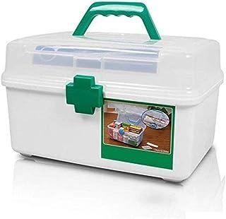 AINIYF Household Medical Kit Portable Medicine Box Plastic First Aid Kit Medicine Storage Box Multi-Function Medicine Box (Size : 28x18x17cm)
