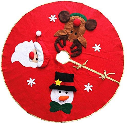 Kentop 100 cm Jupe décoration de Arbre Noël pour décoration de Noël fête