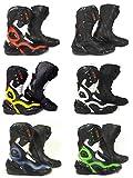 XTRM Stivali da moto Blade adulto on Road Racing Heavy Duty moto sport stivali, Green/Black, EU 40/ UK 6
