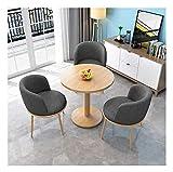 Cocina de mesa de ocio mesa de comedor para cocina o decoración del hotel, balcón mesa y silla combinación de sala de estar cocina mesa de comedor nórdico 1 mesa 3 sillas cafetería ocio mesa de ocio