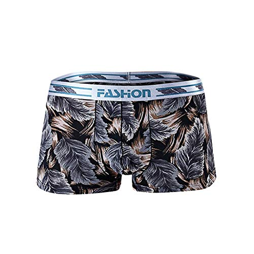 Daysing Herren Unterhosen Boxershortsmänner locker schwarz Boho Drucken Ice Seide Sommer Tarnung Sexy Mode günstige(Braun,XXX-Large)