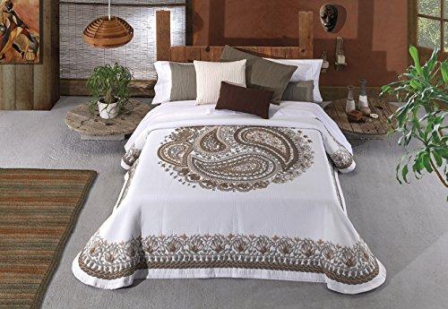 Colcha cama 135 marrón Manterol Zoco-629