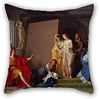 Bestseason 16 X 16 Inches / 40 By 40 Cm Oil Painting François-André Vincent - Zeuxis Choosing His Models For The Image Of Helen From Among The Girls Of Croton Throw Pillow Case,2 Sides Is Fit For