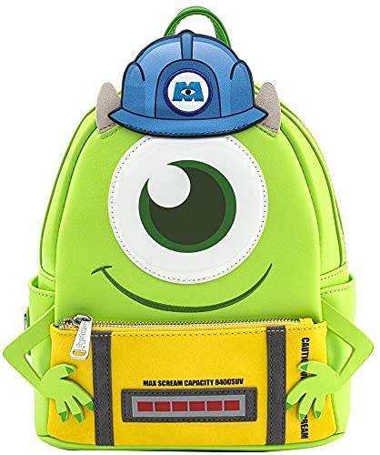Monsters Inc. Loungefly - Mike Mujer Mini Mochilas multicolores, Semi piel,