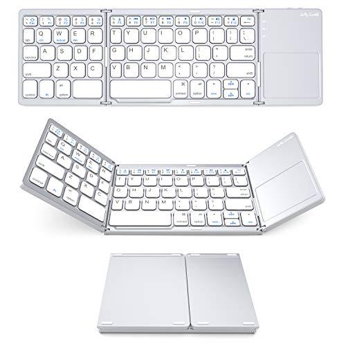 Jelly Comb Ultra Slim Ergonomic Foldable Rechargeable Pocket Sized Mini BT Wireless Keyboard