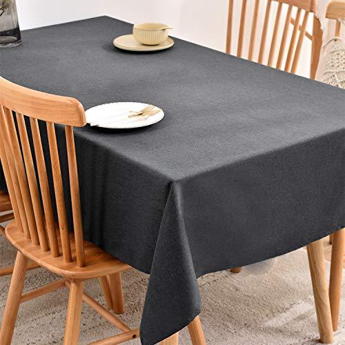 テーブルクロス撥水汚れ防止麻風の質感長方形無地140*180, 140*240
