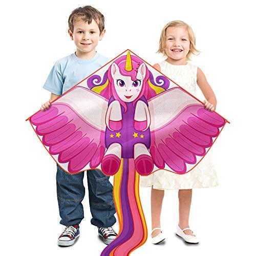 Fliegende Spielzeug Drachen-Einhorn Drachen für Kinder Erwachsene im Freien Beach Park...
