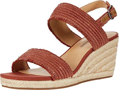 Lucky Brand Women's MINJAH Espadrille Wedge Sandal, Sumac, 5