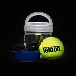 flybomb Portable Tennis Trainer 2.05LB Weight Heavy Iron Base Tennis Training Tool Exercise Tenis Ball Sports Self-Study R...