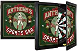 THOUSAND OAKS BARREL CO. | Personalized 'Baseball' Dartboard & Cabinet Set with 6 Steel Tip Darts - Perfect Sports Fan Gift - Sporting Memorabilia, Wall Art