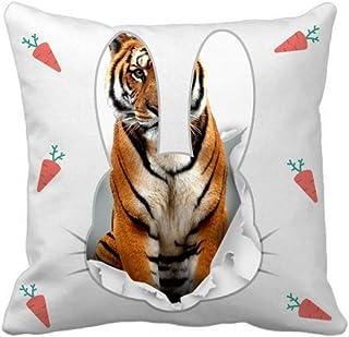 OFFbb-USA Animal Paper Breaks Shock Tigers - Funda cuadrada para almohada