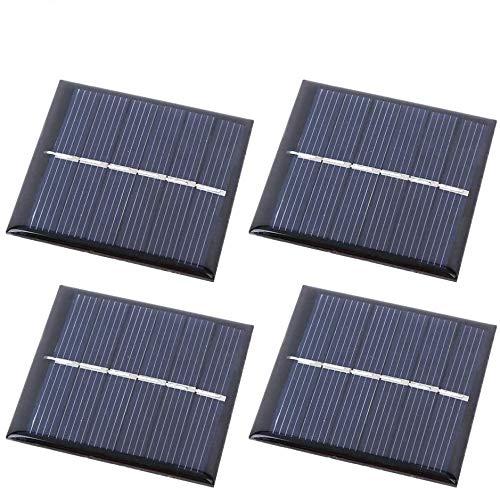 Alomejor 4PCS Solar Charger Solarpanel Outdoor-Notladegerät Tragbares Netzteil Camping Gear Solarbetriebenes Ladegerät