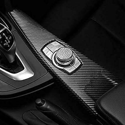 Alcantara Pelle Scamosciata Car Multimedia Pulsante Pannello Copertura ABS M Performance Adesivi Decalcomanie Per BMW F30 F34 F31 F36 F35 F33 F32 Carbon LHD Classic
