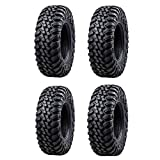 Bundle - Four Tusk TERRABITE Heavy Duty 8-Ply DOT Radial UTV/ATV Tires - Two 26x9-14 and Two 26x11-14
