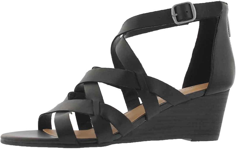 Lucky Brand Women's Jewelia Wedge Sandal Black 10 M US