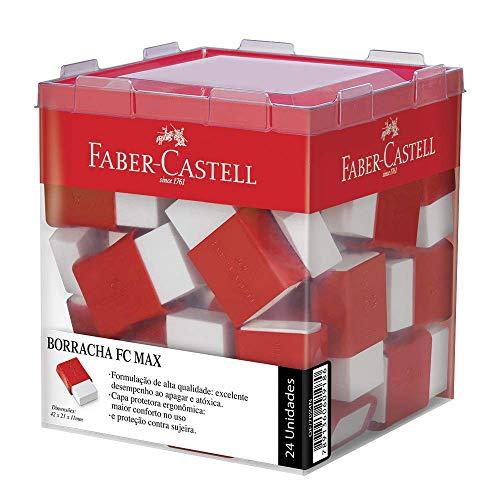 Borracha para Grafite Cinta Plástica Office Pequena 24 Unidades, Faber-Castell, Branca