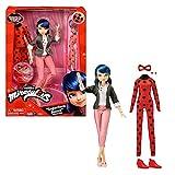 Bandai - Miraculous - Muñeca con Sus Dos Trajes - Ladybug y Marinette - Muñeca articulada de 26 cm c...