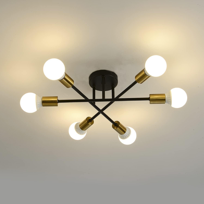 Sputnik Chandelier Black Cheap mail order specialty store 6 Light Dedication Century Fi Mid Adjustable