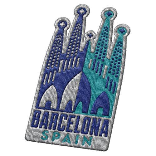 Vagabond Heart Barcelona Spanien Reise Patch – Sagrada Familia von Antoni Gaudi / Tolles Souvenir für Rucksäcke und Gepäck / Rucksackreisen und Reiseabzeichen