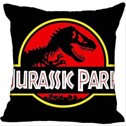 NA Jurassic Park Logo Funda De Almohada Cuadrada Funda De Almohada con Cremallera 45 * 45cm P