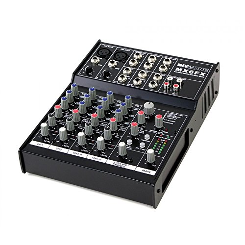 Invotone MX6FX Mixer DJ 6Kanal DSP Multieffektgerät 2x Mic