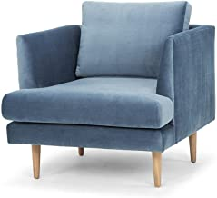 Denmark Fabric Armchair - Dust Blue