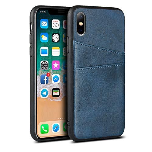 PU-Hülle für iPhone XS Max (6,5 Zoll) (blau)