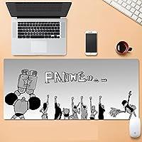 マウスマットゲーム、デスクパッド、オフィスデスクマット、滑り止めのこぼれ防止、特大キーボードマウスマット、Macbook、PC、ラップトップ、デスク用のソフトコンピュータキーボードマウスマット-A_800x300x3mm