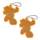 2Pcs Super Bright Children's Safety Reflective Gear, Stylish Pendant Keychain Reflector for Bags Strollers Wheelchair Clothing, Christmas Halloween Party Hanging Decoration (Goofy)