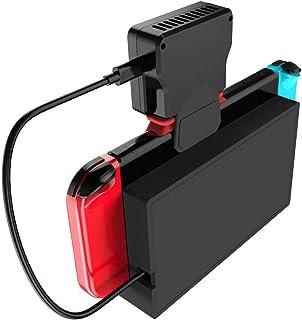 Lazayyii 任天堂Switch用冷却ファン Nintendo Switch専用 冷却器 温度表示 ハイパワー冷却ファン スイッチドック 静音 熱対策