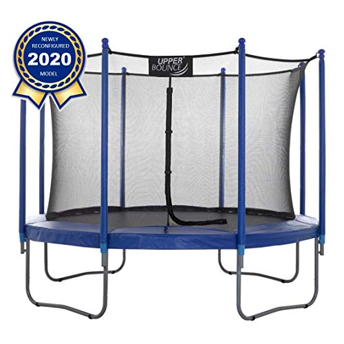 Upper Bounce Premium Large Trampoline and Enclosure Set Equipped with Easy Assembly Feature | Outdoor Trampoline with Safety Enclosure Net | Ultra Durable Foam Mat and Safety Pads (12 Feet - 3.66 m)