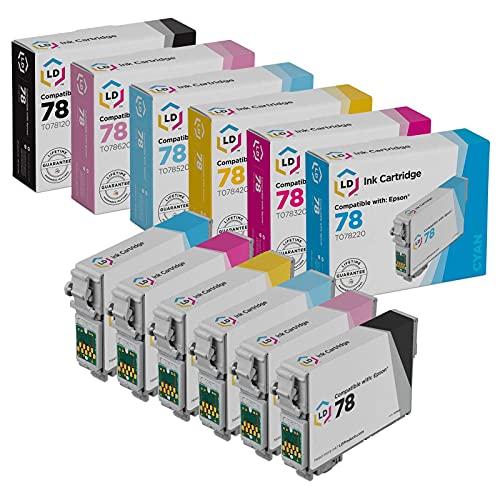 LD Remanufactured Ink Cartridge Replacement for Epson 78 (Black, Cyan, Magenta, Yellow, Light Cyan, Light Magenta, 6-Pack)