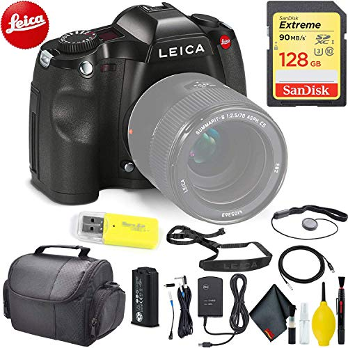 Sale!! Leica S (TYP 006) DSLR Medium Format Camera (10803) + 128 GB Memory Card Professional Kit