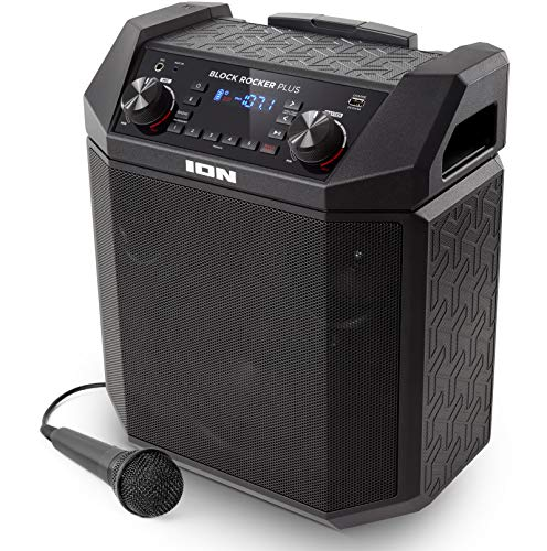 ION Audio Block Rocker Plus | 100W Portable Speaker, Battery Powered with Bluetooth, Microphone...