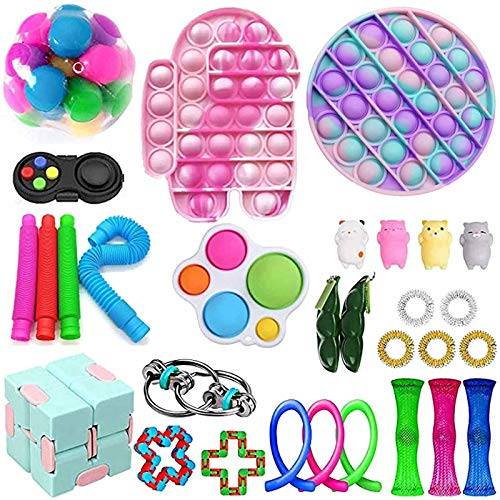 Relieves Stress Bundle Sensory Fidget Toys Set,Autism ADHD Toy for Kids and Adults for Parties, Class Room Prizes and Festival (R1)