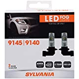 SYLVANIA - 9145/9140 LED Fog Light - Premium Quality Plug and Play LED Fog Lights, Bright White Light Output, Matches HID & LED Headlight Lighting Systems, Added Style & Performance (Contains 2 Bulbs)