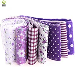 Arshily - 100% Cotton Arrival 10 Sheets lot Jelly roll Sewing Purple Purple Fabric Strip 5 cm x 100 cm Tilde Quilt Doll Cloth