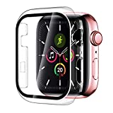Smiling Case Compatible with Apple Watch Series 3 & Series 2 38mm with Built in Tempered Glass Screen Protector-All Around Hard PC Case Overall Protective Cover (Clear)