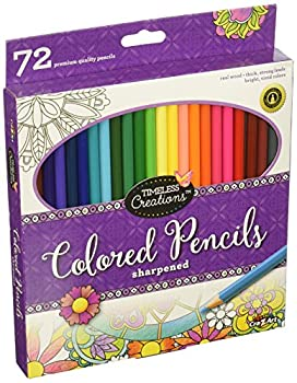 Cra-Z-Art Timeless Creations Adult Coloring  72ct Colored Pencils  10456PDQ-24