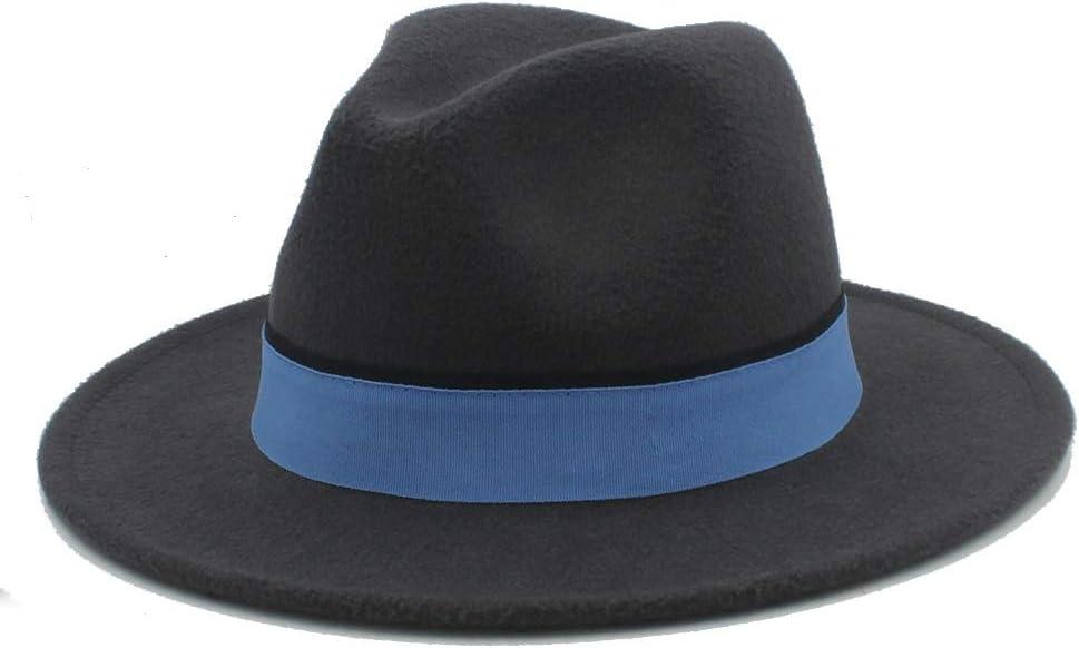 No-branded Fedora Hat Men Women with Clot [Alternative dealer] Arlington Mall Winter Blue